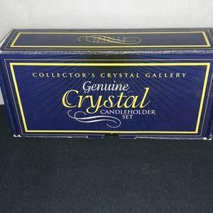 Genuine crystal candle holder set
